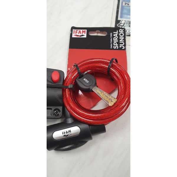 CABLE SPIRAL JUNIOR ROJO