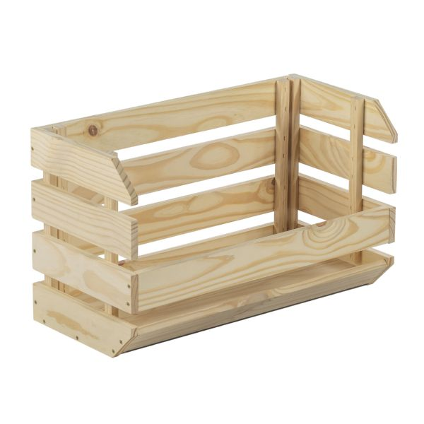 Caja apilable Evolution 60x28,5x35,3cm pino macizo