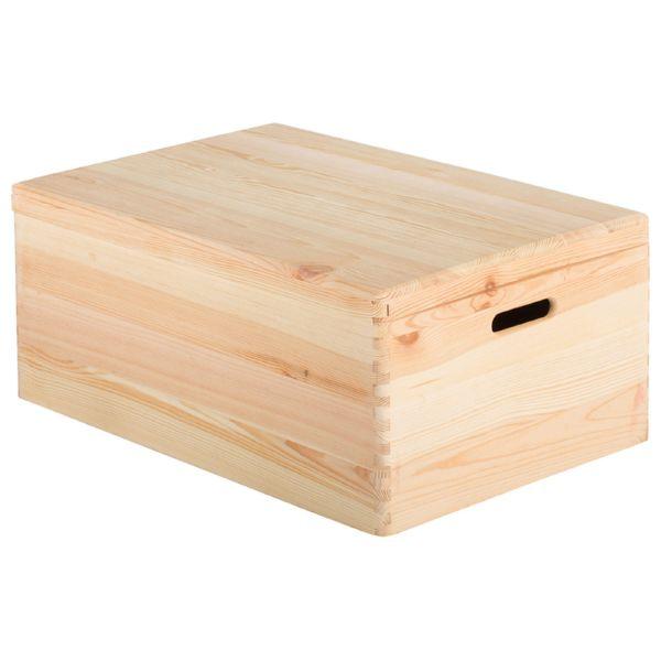 Caja de pino con tapa 60x40x23