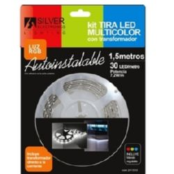 TIRA LED 1,5 MTRS KIT 60 led/m 7,2w rgb